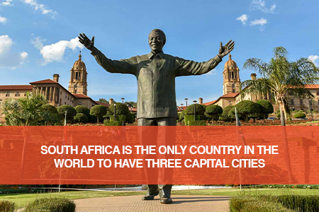 South Africa boasts three capital cities