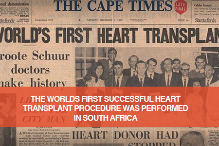 The World's First Heart Transplant happened in South Africa