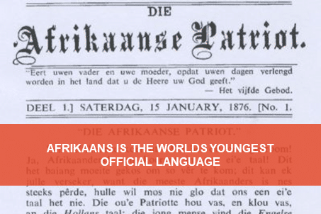 Afrikaans, the world's youngest language